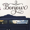Bonjour Wall Decal, French Wall Decals