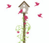 Bird Wall Decals, birdhouse wall decal