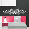 decorative ornate butterfly headboard wall decals