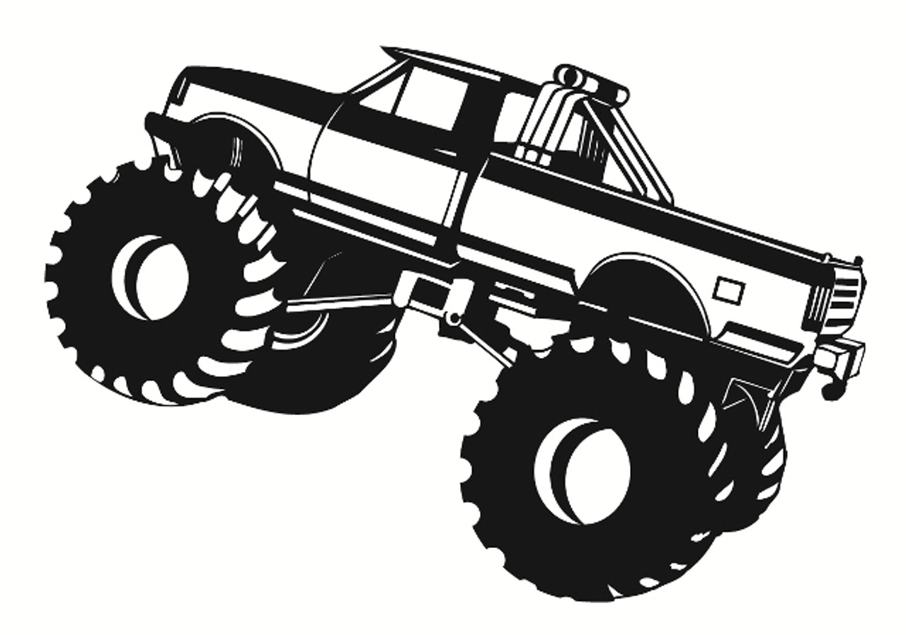 Monster Truck Wall Decal Decalmywall Com