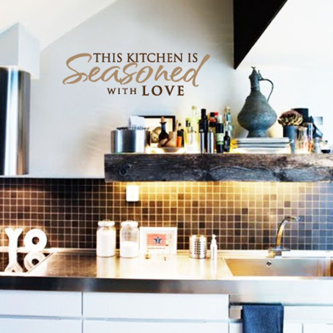 Seasoned With Love Wall Decal Decalmywall Com