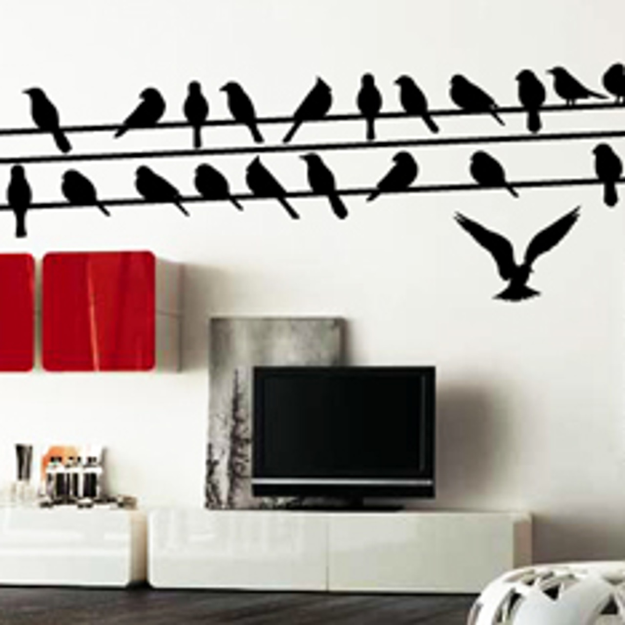 Birds On A Wire Wall Decal 02 Decalmywall Com