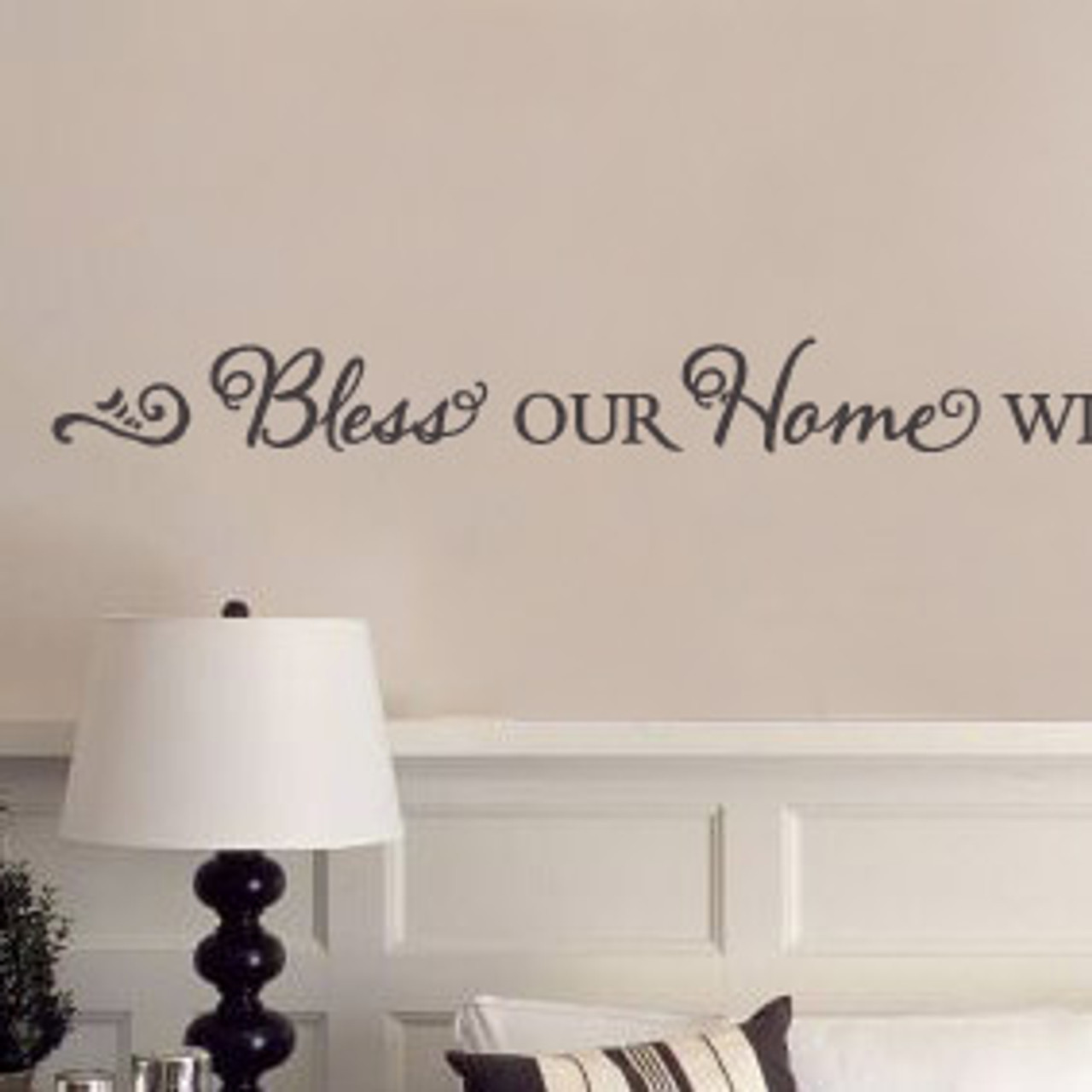 Bless Our Home With Love Laughter Wall Quote Decalmywall Com