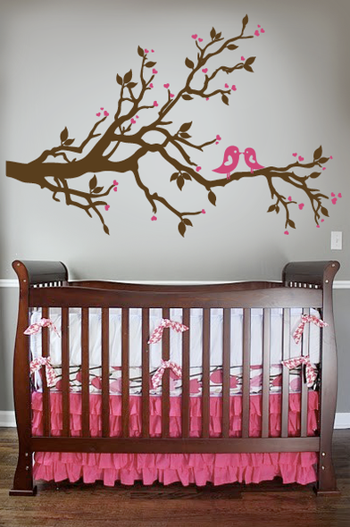 Love Birds Branch Wall Decal