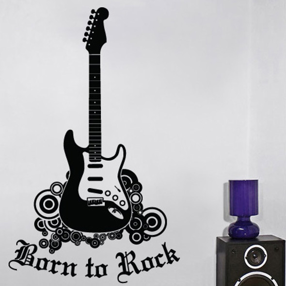 Guitar Wall Decals, rock n' roll wall decal, kids wall decals