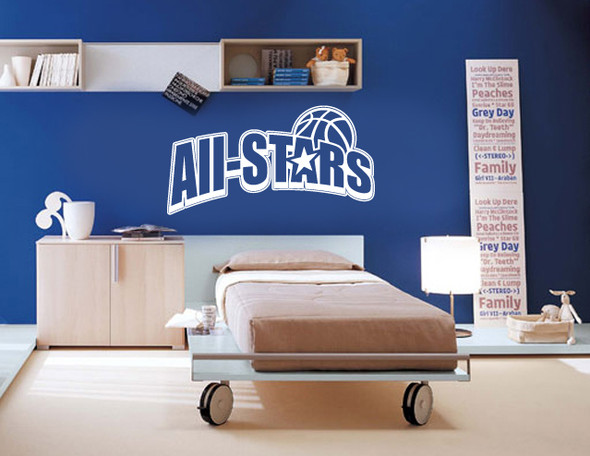 Sports wall decals, basketball wall decals