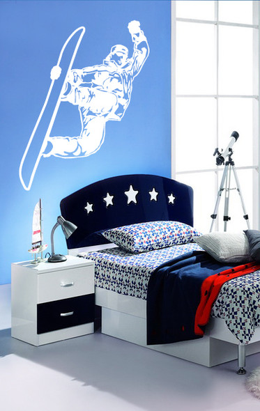 Snow Board Wall Decal, Sports Wall Decal