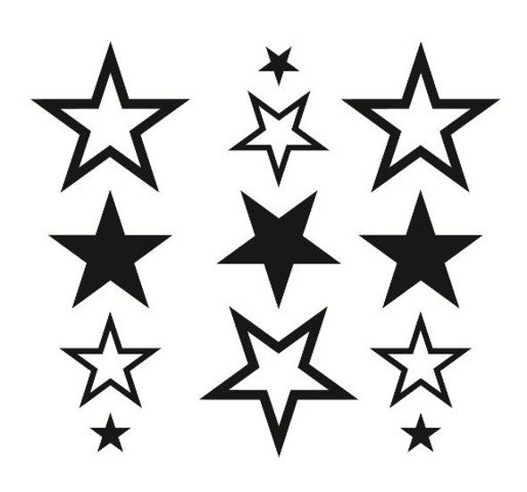 Shapes Stars Wall Decal