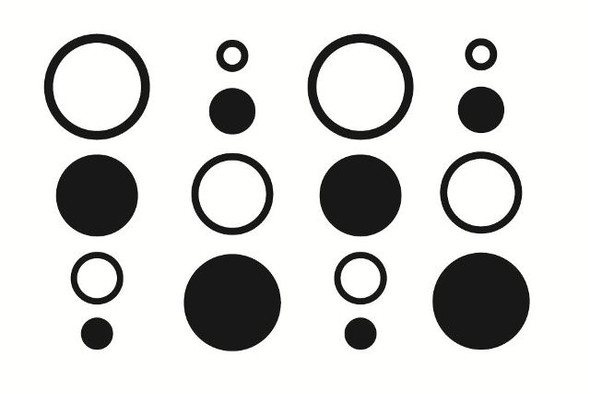 Shapes Dot Wall Decals, dots & rings wall decals