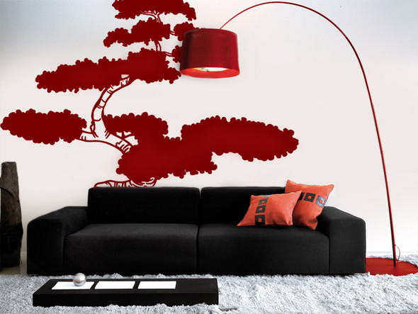 Asian Bonsai Tree Wall Decals