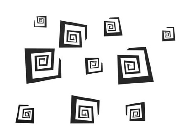 Shapes Swirly Squares Wall Decals