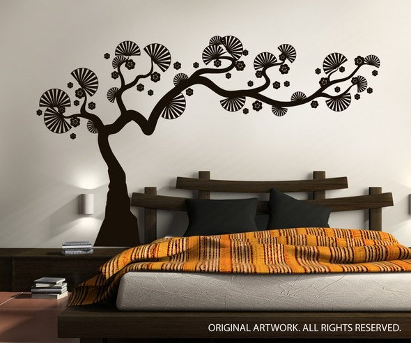 Modern Bonsai Tree Wall Decals