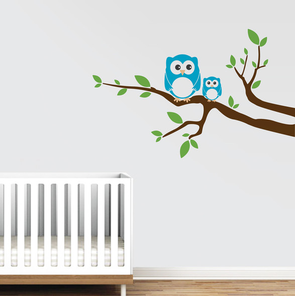 Branches with Owls Wall Decals
