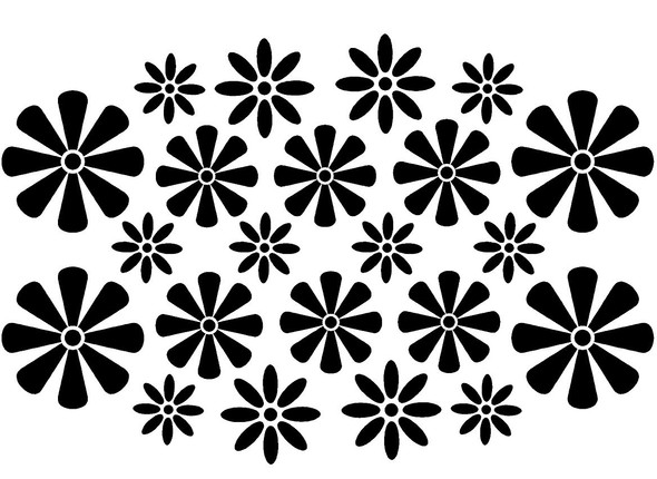 Flower Wall Decals - Set of 22 Flowers