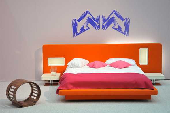 Headboard Wall Decals, geometric wall decals, arrow wall decals, modern urban wall decals