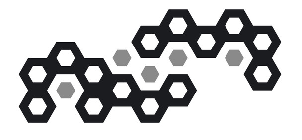 Shapes Wall Decals - Modern Honeycomb Wall Decals