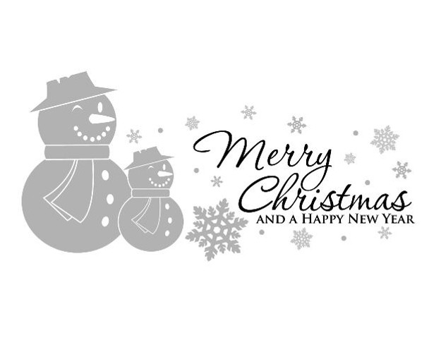 Holiday wall decals, Christmas wall decals, snowman wall decals, winter wall decals