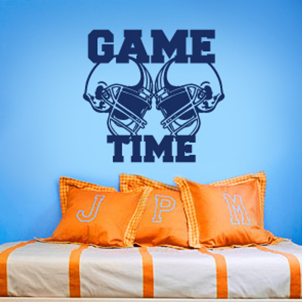 Football Wall Decal, Game Time Wall Decal, Sports Wall Decal