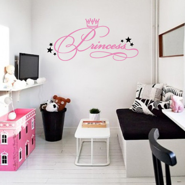 kids wall decals, Princess wall decal