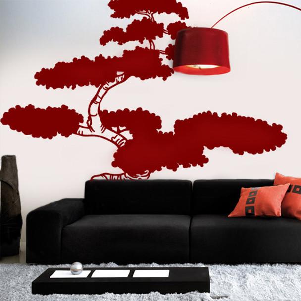 Asian Bonsai Tree Wall Decals