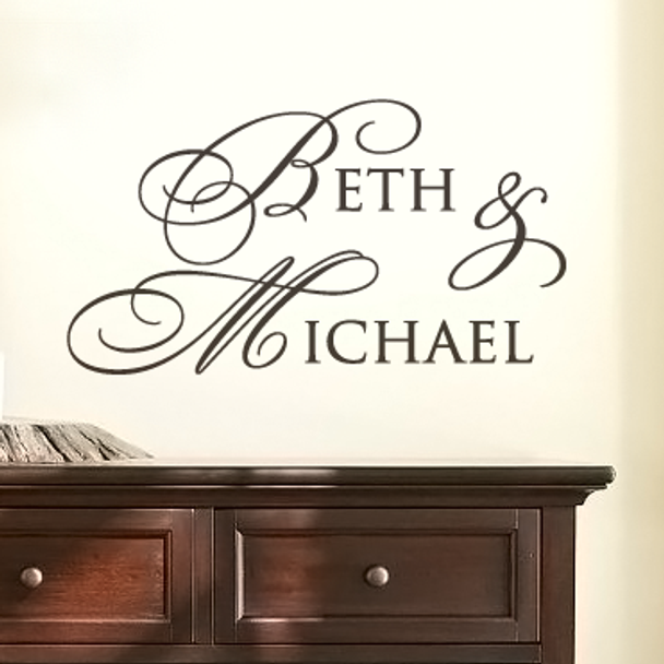 Monogram wall decals, wall lettering, personalized wall decals