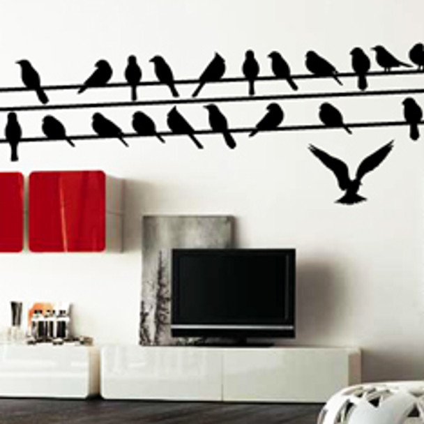 Bird Wall Decals, birds on a wire