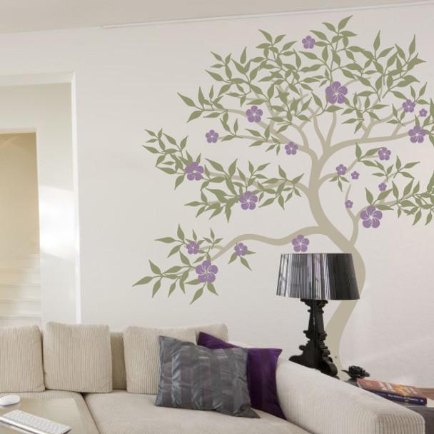 Oriental Blossom Tree Wall Decal