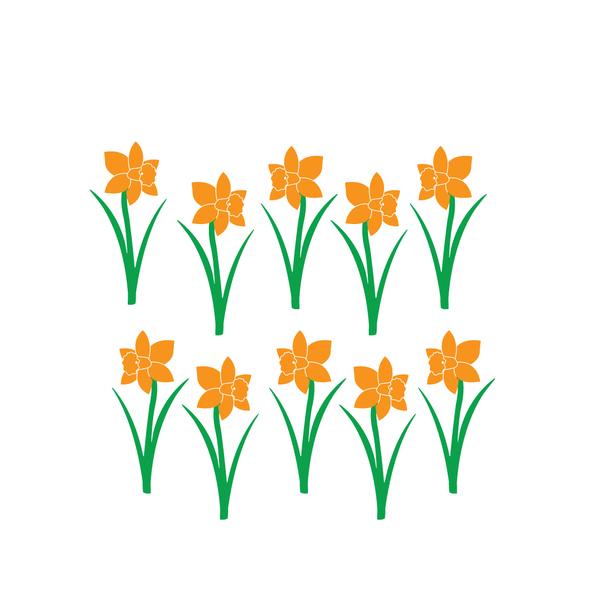 Daffodils Flower Wall Decals
