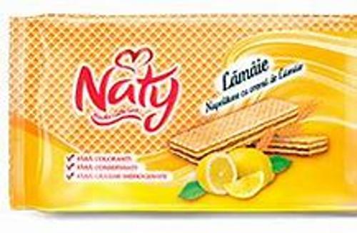 Naty Lemon Cream Wafers 160g