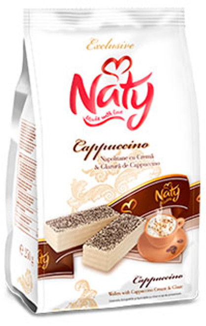 Naty Cappuccino cream and glaze wafers 250g