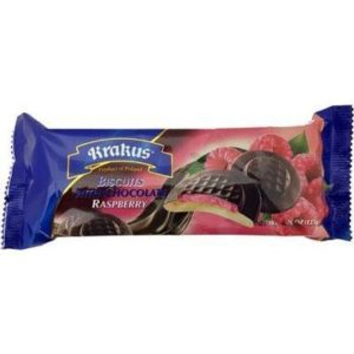 Krakus Biscuits Raspberry w Chocolate135g