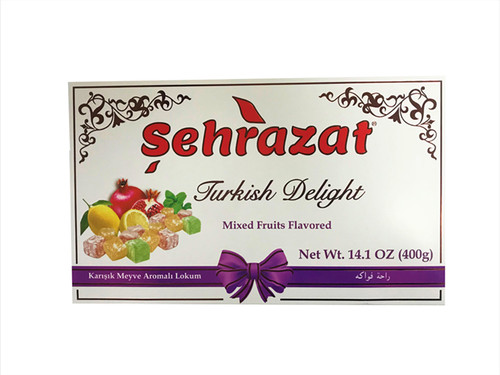 SEHRAZAT TURKISH DELIGHT WITH MIXED FRUITS FLAVORED 400GR