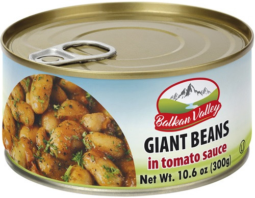 BALKAN VALLEY GIANT BEANS WITH TOMATO SAUSE 300GR