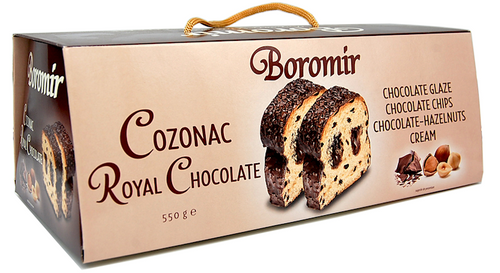 COZONAC ROYAL CHOCOLATE w/ Chocolate Cream & Chocolate Chips500g