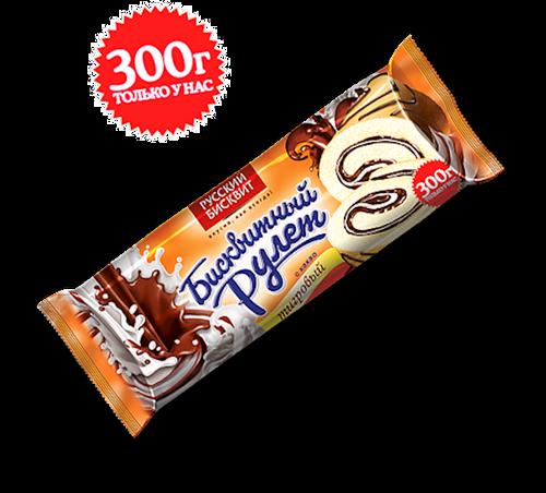ROLL SPONGE TIGER W,CHOCOLATE AND VANILLA 300g