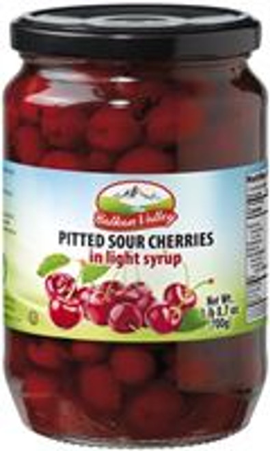 BALKAN VALLEY PITTED SOUR CHERRIES IN LIGHT SYRUP 700GR