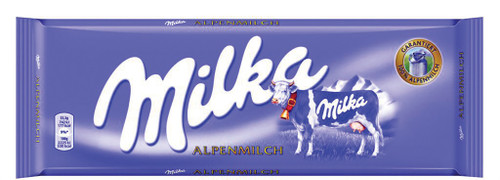 MILKA ALPINE MILK CHOCOLATE BARS  250GR