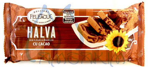 HALVAH SUNFLOWER SEEDS with COCOA 400g
