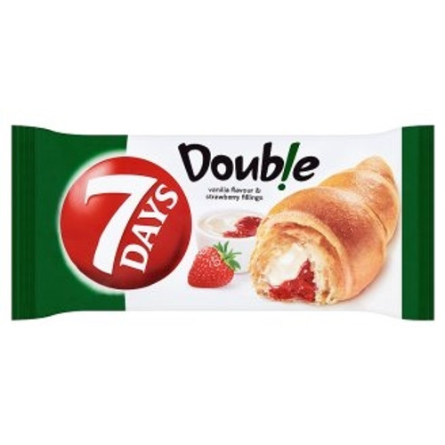 7 Days Double Croissant with  Vanilla  and Strawberry Fillings    75g