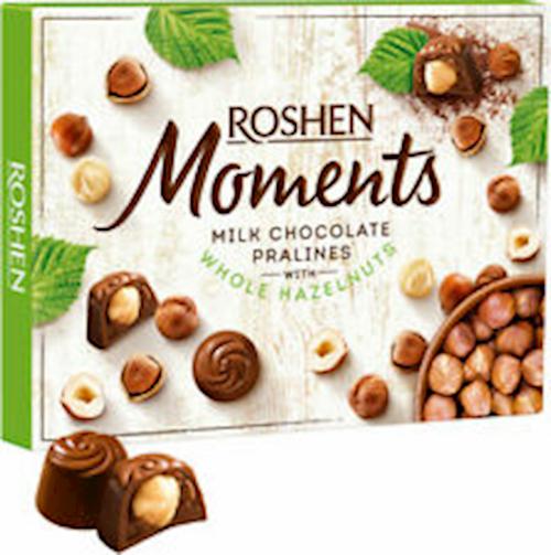 ROSHEN CANDIES  W/WHOLE HAZELNUT 116GR