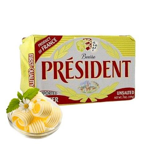 PRESIDENT Unsalted Butter 200gr