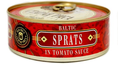 OLD RIGA Kosher Baltic Sprats in Tomato Sauce E/O 240g