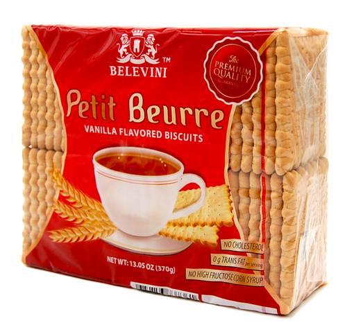 BELEVINI PETIT BEURRE Vanilla Biscuits 370g