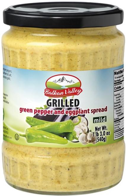 BALKAN VALLEY GREEN PEPPER & EGGPLANT SPEAD  550GR