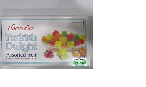Hacizade Turkish Delight Assorted Fruit 454g