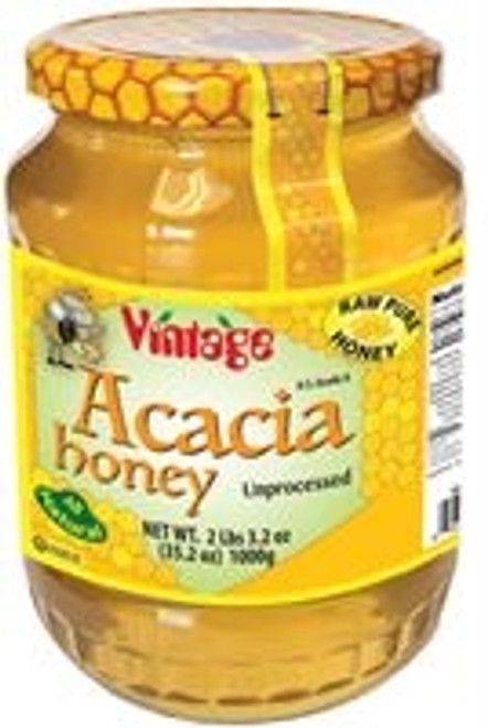 Vintage Raw Acacia Honey 2.2Lb/1kg Glass