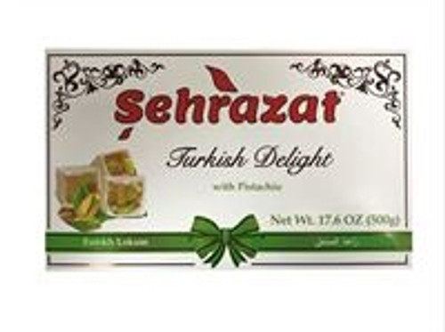 Sehrazat Turkish Delight With Pistachio 500gr