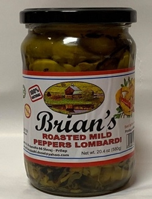 Brians Roasted Mild Peppers 580g