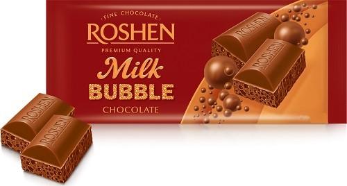 Roshen, Milk Aerated  Chocolate 100gr