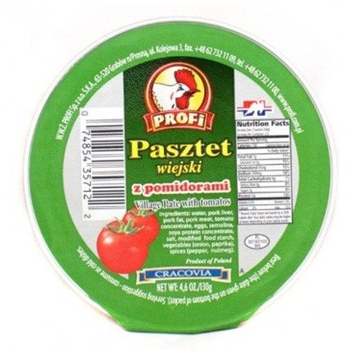 Profi Pork Village Pate with Tomatoes / Pasztet Wiejski z Pomidorami 130g